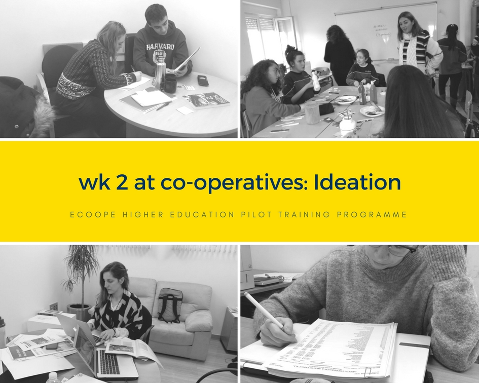 Ideation - wk 2 at coops